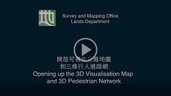 Opening up the 3D Visualisation Map Dataset and 3D Pedestrian Network